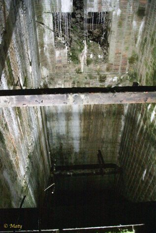 elevator shaft in the Hitler's command bunker